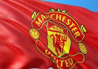Fotbal - vlajka fotbalového klubu Manchester United
