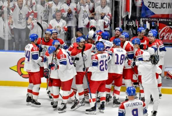 8d9d5df10c686 Hokej, čeští hokejisté na Mistrovství světa 2019 na Slovensku - Zdroj ČTK,  Šimánek Vít