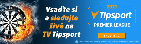 Tipsport Premier League v šipkách 2021 - sledujte živě na TV Tipsport