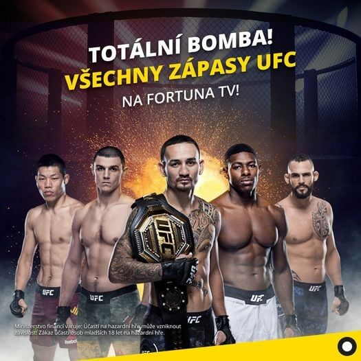 Sledujte UFC streamy na Fortuna TV